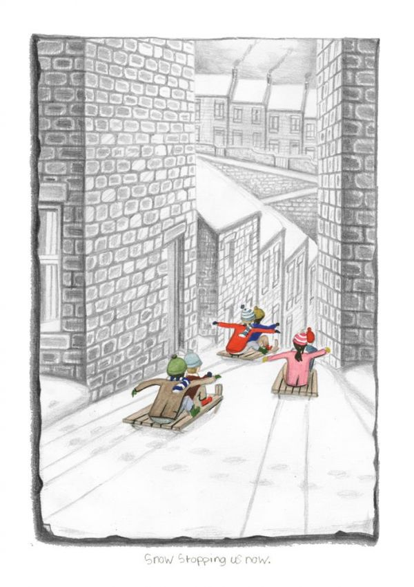 Snow Stopping Us Now - Signed Limited Edition Paper Print by Leigh Lambert - Mounted