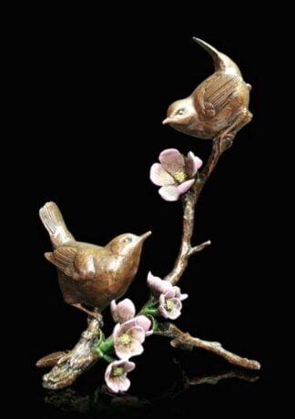 Apple Blossom Bronze Sculpture by Michael Simpson