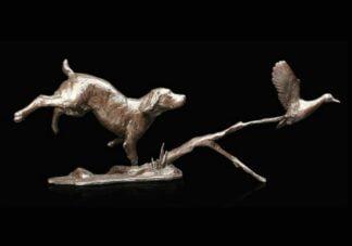 Cocker Spaniel Sculpture by Michael Simpson