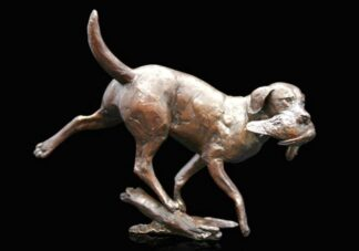 Working Labrador Bronze Sculpture by Michael Simpson