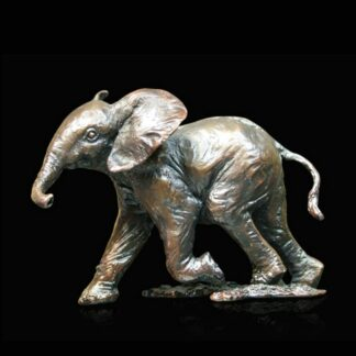 Elephant Bronze Sculpture By Michael Simpson