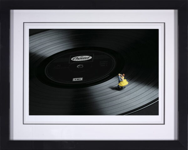 First Dance - Signed Limited edition paper print by Mr Kuu - Mounted and Framed