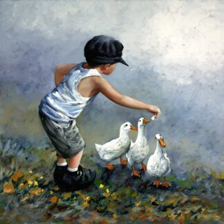 Out To Lunch - Signed Limited Edition Canvas Print on Board By Keith Proctor Unframed