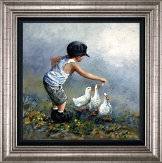 Out To Lunch Signed Limited edition canvas print by keith proctor framed in the artists recommended frame