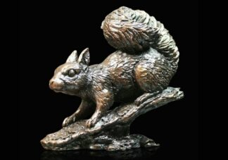 Red Squirrel Bronze Sculpture by Michael Simpson