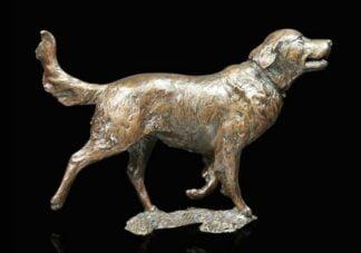 Retriever Bronze Sculpture by Michael Simpson