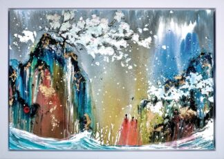 The Journey - Hand Embellished, Signed Limited Edition Boxed Canvas Print by Danielle O'Connor Akiyama Framed