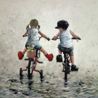 Thrills And Spills - Signed Limited Edition Canvas Print on Board By Keith Proctor Unframed