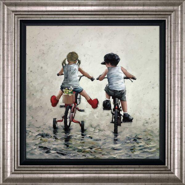 Thrills And Spills - signed limited edition print by Keith Proctor framed in the artists recommended frame
