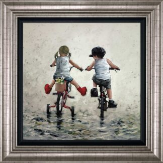 Thrills And Spills - Signed Limited Edition Canvas Print on Board By Keith Proctor Framed