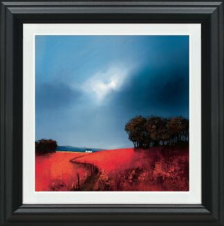 Crimson Fields Of Home - Signed Limited Edition Paper Print by Barry Hilton Mounted And Framed