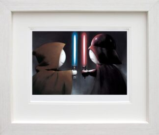 Good Vs Bad - Signed Limited Edition paper Print by Doug Hyde - Mounted and Framed