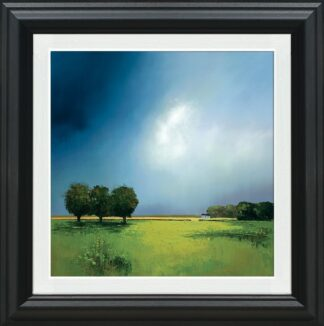 Green Fields Of Home - Signed Limited Edition Paper Print by Barry Hilton Mounted And Framed