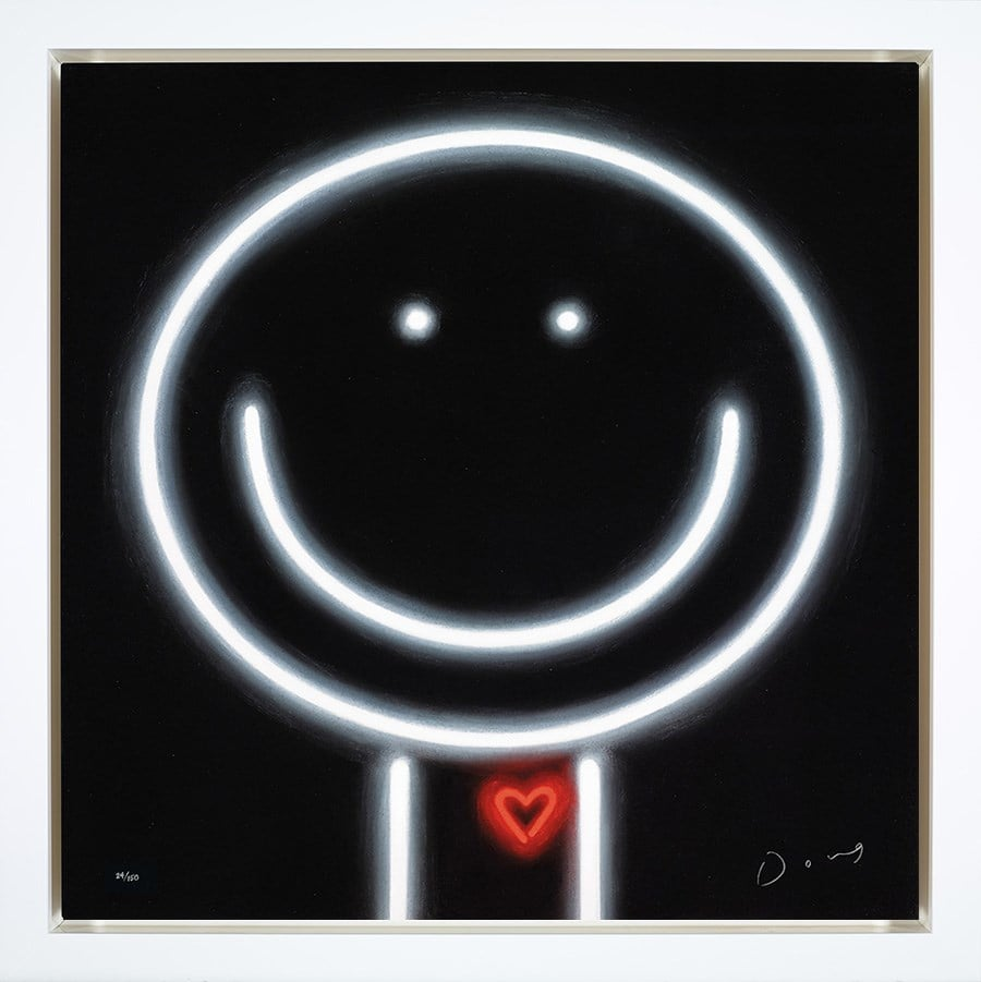 Heart Throb - Signed Limited Edition Boxed Canvas Print by Doug Hyde - Framed