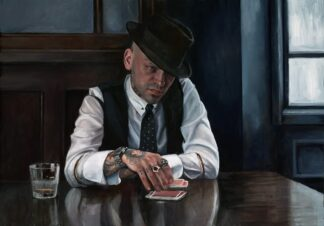 Let The Cards Decide - Signed Limited Edition Canvas Print on board by Vincent Kamp - Unframed