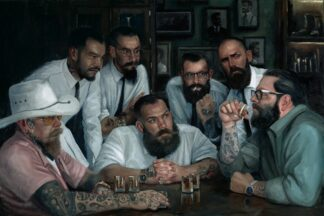 Settling Old Rivalries - Signed Limited Edition Canvas Print on board by Vincent Kamp - Unframed