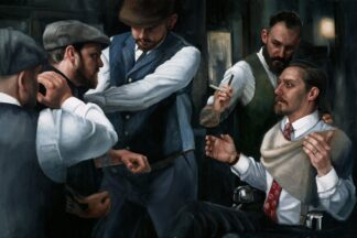 The Betrayal - Signed Limited Edition Canvas Print on board by Vincent Kamp - Unframed
