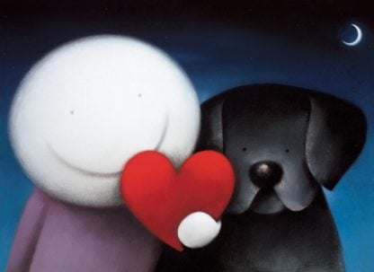 We Share Love - Signed Limited Edition paper Print by Doug Hyde - Mounted Unframed