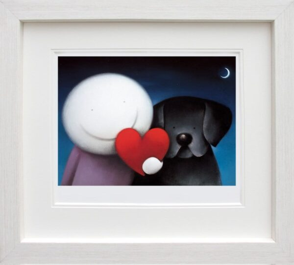 We Share Love - signed limited edition paper print by Doug Hyde framed in the artists recommended frame