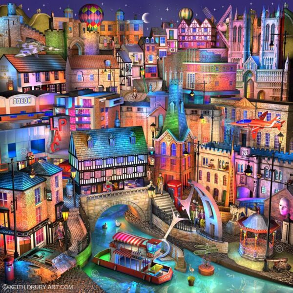 Lincoln Nightfall - Signed Limited Edition paper Print by Keith Drury Unmounted