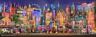London Way - Signed Limited Edition paper Print by Keith Drury Unmounted