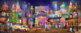 Liverpool Twilight signed limited Paper print from Keith Drury - unmounted