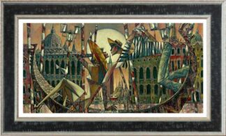 Love In Venice - Signed Limited Edition Hand Embellished Canvas Print by Andrei Protsouk Framed