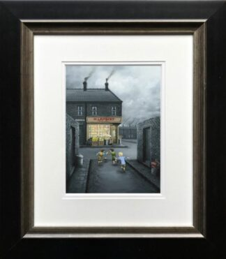 Mind That Window - Signed Limited Edition paper Print by Leigh Lambert - Mounted And Framed