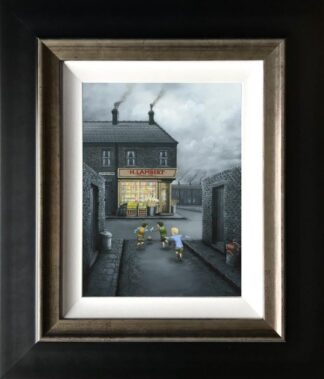 Mind The Window - Signed Limited Edition Canvas Print on Board by Leigh Lambert Mounted and Framed