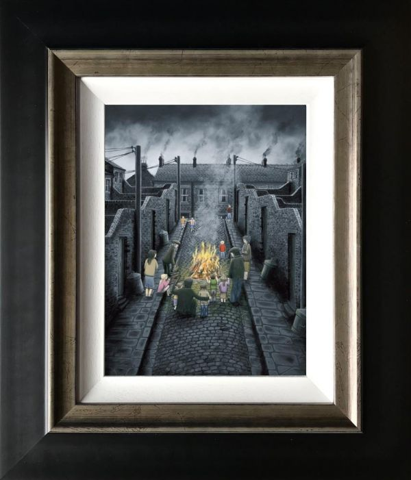 no smoke without fire - Signed Limited Edition Canvas print on board by Leigh Lambert - Mounted And Framed