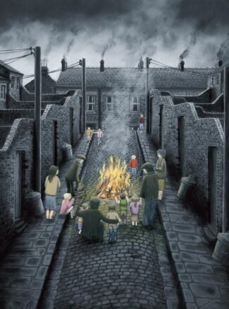 No Smoke Without Fire - Signed Limited Edition Paper Print by Leigh Lambert Mounted Unframed