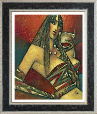 Pinot Noir - Signed Limited Edition Hand Embellished Canvas Print by Andrei Protsouk Framed