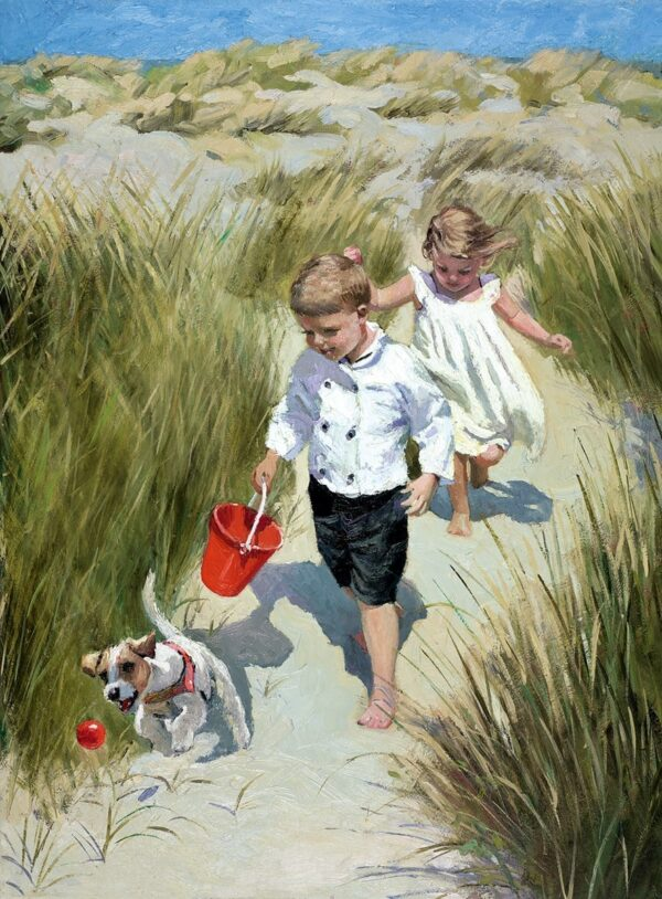 Sand Dune Haven - Signed Limited Edition Hand Embellished Canvas Print on Board by Sherree Valentine Daines Unframed
