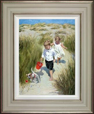 Sand Dune Haven - Signed Limited Edition Hand Embellished Canvas Print on Board by Sherree Valentine Daines Framed