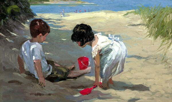 Shady Retreat - Signed Limited Edition Hand Embellished Canvas Print on Board by Sherree Valentine Daines Unframed