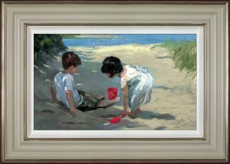 Shady Retreat - Signed Limited Edition Hand Embellished Canvas Print on Board by Sherree Valentine Daines Framed