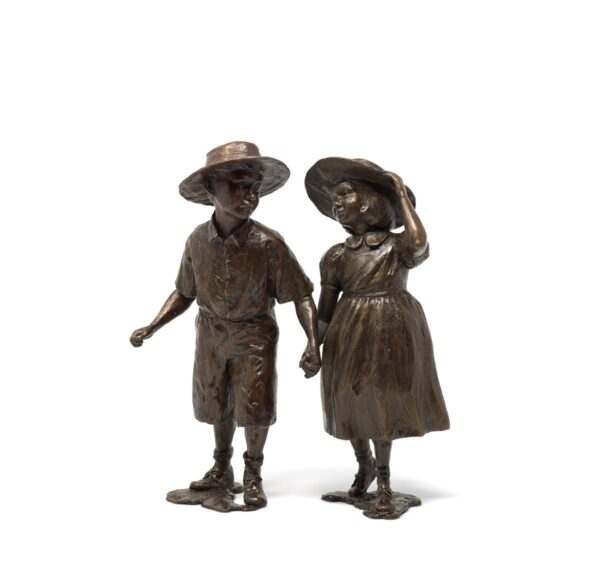 Time Of Innocence - Signed Limited Edition Bronze Sculpture by Sherree Valentine Daines Framed