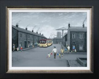 All Aboard For The Seaside - Signed Limited Edition Canvas Print on Board by Leigh Lambert - Mounted And Framed