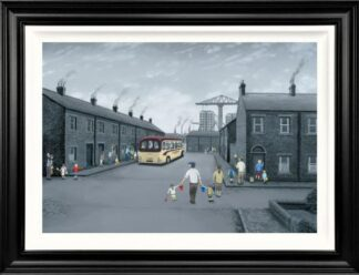 All Aboard For The Seaside - Signed Limited Edition Deluxe Canvas Print on Board by Leigh Lambert - Mounted And Framed