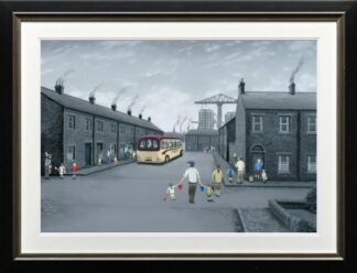 All Aboard For The Seaside - Signed Limited Edition Paper Print by Leigh Lambert - Mounted And Framed
