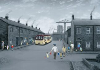 All Aboard For The Seaside - Signed Limited Edition Paper Print by Leigh Lambert - Mounted And Unframed
