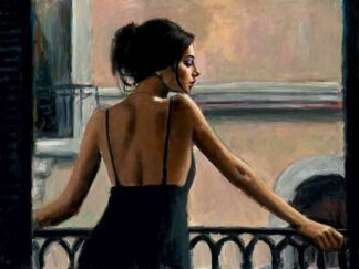 Balcony At Buenos Aires VI - Signed Limited Edition Canvas Print on Board by Fabian Perez - Unframed