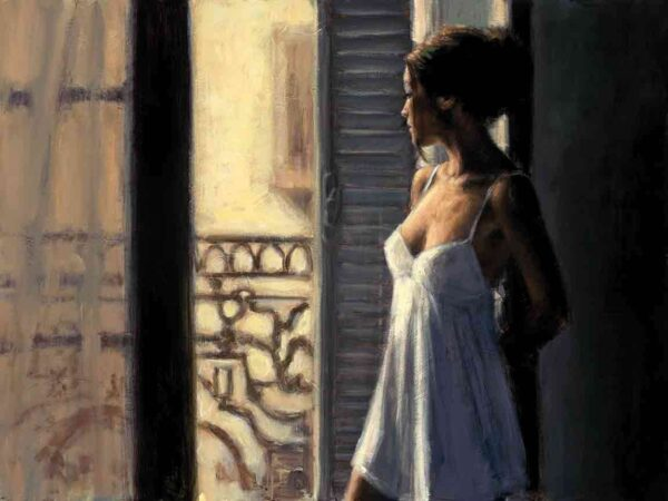 Balcony At Buenos Aires X- Signed Limited Edition Canvas Print on Board by Fabian Perez - Unframed