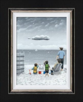 Trouble On The Horizon - Signed Limited Edition Canvas Print on Board by Leigh Lambert - Mounted And Framed