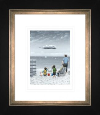 Trouble On The Horizon - Signed Limited Edition Paper Print by Leigh Lambert - Mounted And Framed