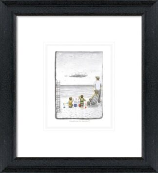 Trouble On The Horizon - Signed Limited Edition Paper Sketch Print by Leigh Lambert - Mounted And Framed
