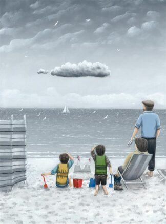 Trouble On The Horizon - Signed Limited Edition Paper Print by Leigh Lambert - Mounted Unframed
