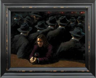 Untitled II Young - Signed Limited Edition Canvas Print on Board by Fabian Perez - Framed