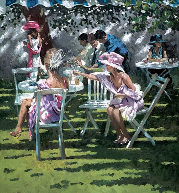 Champagne In The Shadows - Signed Limited Edition Hand Embellished Canvas print on Board by Sherree Valentine Daines - Unframed
