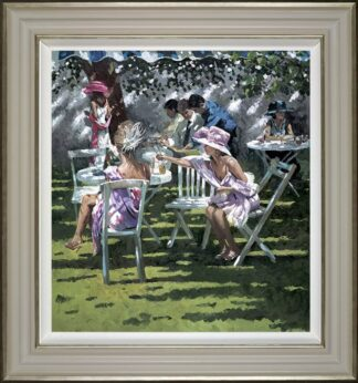 Champagne In The Shadows - Signed Limited Edition Hand Embellished Canvas print on Board by Sherree Valentine Daines - Framed